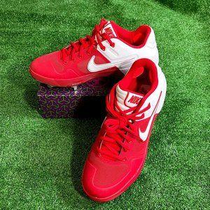 Nike Alpha Huarache Elite 2 Red Cleats Shoes 8